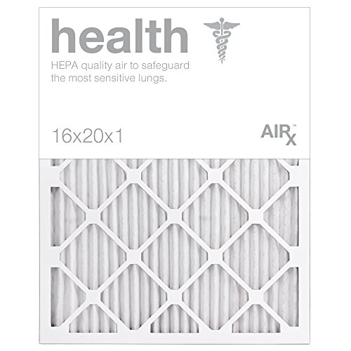 AiRx HEALTH 16x20x1 Air Filters - Optimal for Health Protection - Box of 6 - Pleated 16x20x1 MERV 11 Air Filters, AC Filters, Furnace Filter - Energy Efficient