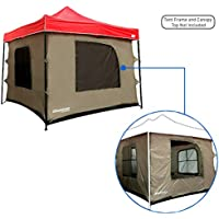 Camping Tent attaches to any 10'x10' Easy Up Pop Up...