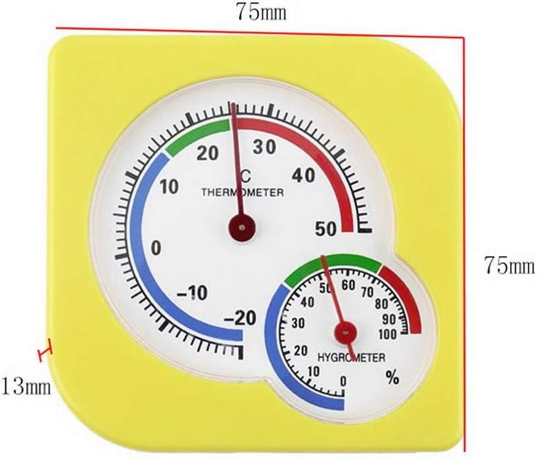 Industria agraria A7 75 x 13 mm Term/ómetro higr/ómetro anal/ógico de Alta precisi/ón Robluee term/ómetro Sistema Interior y Exterior