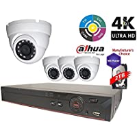 Dahua Penta-brid 1080P Security Package: 8CH 1080P Penta-brid XVR5108 5 in 1 (CVI TVI AHD IP and Analog) w/2TB Security Hard Drive+(4) 2MP Outdoor IR HDW1200 3.6MM Eyeball (NO LOGO OEM Local Support)