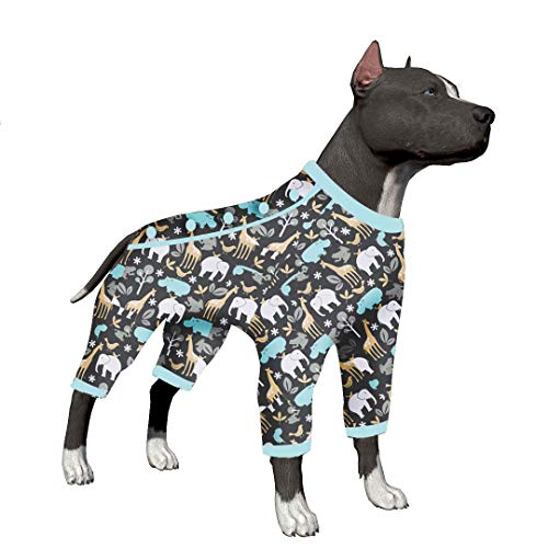Dog Breed Pajamas - LovinPet Big Dog Pajamas, A Walk in Wilderness Cozy Dog Pajamas, Slim fit, Lightweight Pullover Pajamas/Full Coverage Dog pjs/Please Reese Size Chart Before Ordering