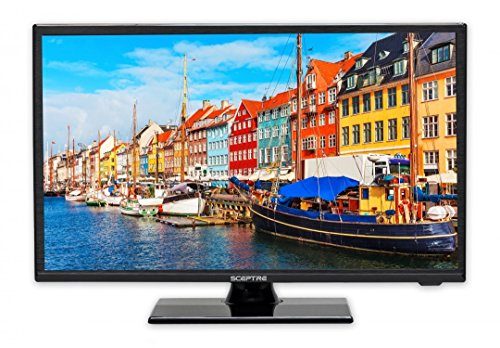 "Sceptre E195BV-SR 19"" Slim LED HDTV 720p with HDMI USB VGA Inputs, Fine Black (2017)"