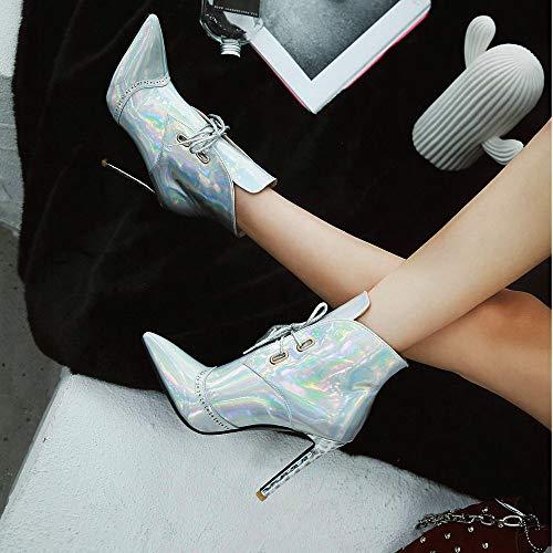 Stivali 8 Donna AnMengXinLing B Silver Argento A1268 119 A A1268 JIXIANGNVXIE 9 x76wz0q87