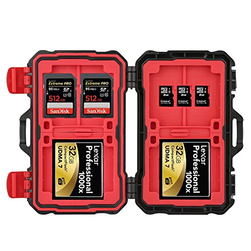 24 Slots Waterproof Memory Card Case Carrying Holder Storage Case for CF Cards Micro SD Cards SD Cards