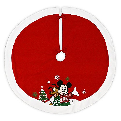 Disney 48 Inch Christmas Tree Skirt - Mickey Mouse and Pluto by Grupo