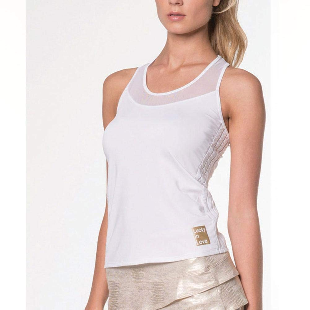 Lucky In Love Womens Off The Charts Outta Sight Cami Tennis Tank