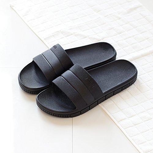 parejas de Negro1 DogHaccd masculinas plástico femenino verano interior zapatillas baño de zapatillas baño antideslizante grueso Zapatillas Verano cuarto home cool de El wgwqUx1Z