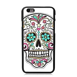 """For iPhone 6 Case, Fashion Flowers Skull Pattern Protective Hard Phone Cover Skin Case For iPhone 6 (4.7"""") + Screen Protector"""