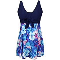 MiYang Womens One Piece Bathing Suit Tankini Swimdress Cover Up Swimsuit