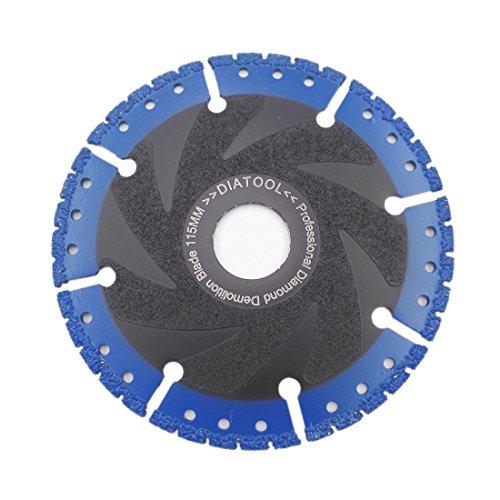 SHDIATOOL 4.5 Inch Metal Cutting Diamond Blade All-Purpose Diamond Cut-off Wheel Marble Aluminum Pipe Iron Hard Plastic PVC and more ()