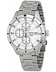 Seiko Chronograph Silver Dial Mens Watch SKS557
