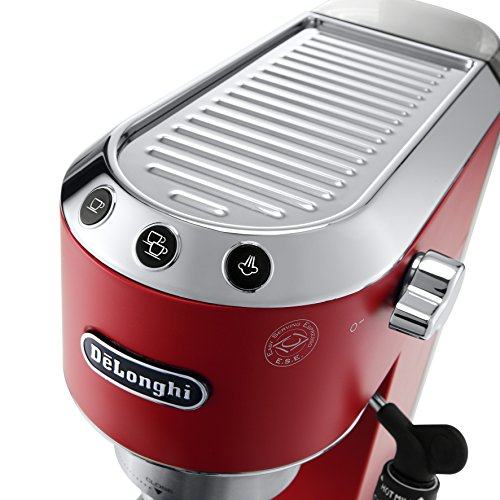 DeLonghi America, Inc EC685R Dedica Deluxe 15-Bar Pump Espresso Machine, Red by DeLonghi (Image #3)