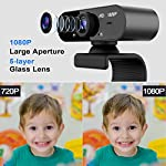 AXUF USB 1080P HD Webcam with Microphone, Suitable for PC, MAC, Laptop, Plug And Play Webcam for YouTube, Video Call…