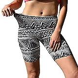 Challyhope Women Workout Bike Yoga Shorts Tummy Control Activewear Gym Running Leggings (XL, Gray)