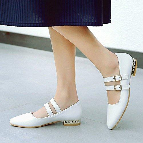 Razamaza Hebillas White Mujer Zapatos Para Con qn8FwUxqrT