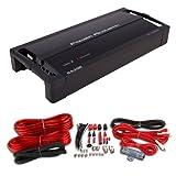 POWER ACOUSTIK RZ1-2300D 2300W RAZOR Mono D Car Amplifier + 4 Gauge Amp Kit Red
