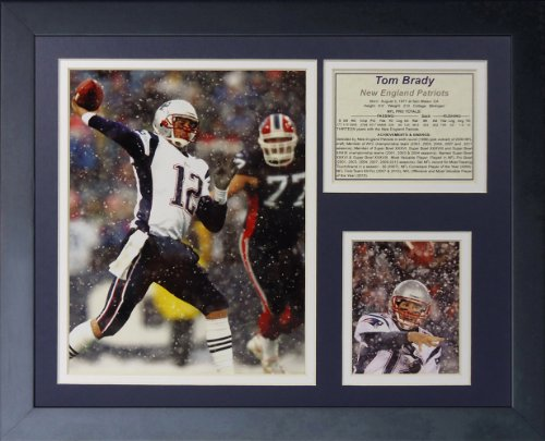 Legends Never Die Tom Brady Snow Framed Photo Collage, 11 by 14-Inch