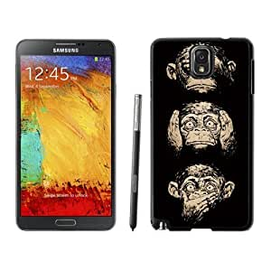 NEW Custom Designed For SamSung Note 2 Case Cover Phone With Three Wise Monkeys Wisdom_Black Phone