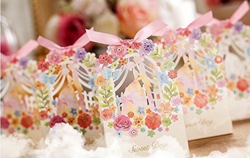 Wedding Gifts Buy Online: Worldoor® 50ps Romantic Wedding Gift Box Elegant White