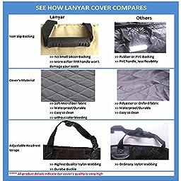 Microfiber Dog Seat Cover Hammock Pet Car Seat Protector for Cars SUV Small Medium / Large Dogs, Dark Grey (X-Large)