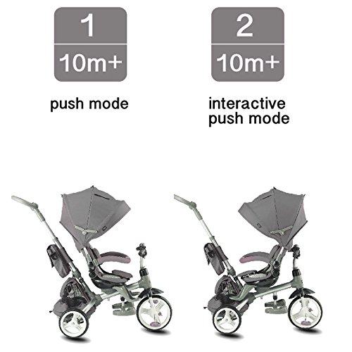 Kiddi-o by Kettler 6-in-1 Ride: Safe Stroller and Multi-Trike, Gray, Youth Ages 2.5+ by Kiddi-o (Image #2)