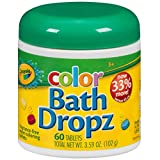 Play Visions Crayola Color Bath Dropz 3.59 Ounce (60 Tablets)