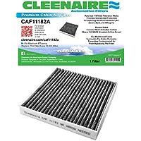 cleenaire caf11182a Nueva Versión mejorada de la protección más avanzada contra la niebla bacterias polvo Virus alérgenos Gases olores Filtro de cabina para 09–16Honda Fit 16–17Civic 11–16CR-Z 10–14Insight