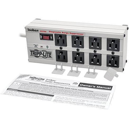 037332010551 - Tripp Lite Isobar 8 Outlet Surge Protector Power Strip,  12ft Cord Right Angle Plug, & $50K INSURANCE (ISOBAR8ULTRA) carousel main 3