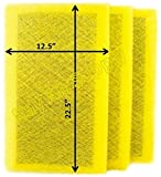 RAYAIR SUPPLY 14×25 MicroPower Guard Air Cleaner Replacement Filter Pads (3 Pack) Yellow