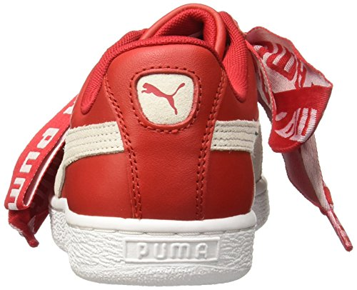 Basse Ginnastica Donna da Patent Wn's Heart Red Puma Basket White Scarpe YF8xXp0