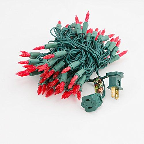 Fantado 70 Outdoor Red LED M6 Mini String Lights, 23.6 FT...