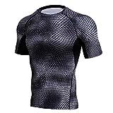 Hunzed Men's Shirt, Fashion { Workout Leggings Fitness Shirt Top } { Sports Gym Running Blouse Tops } { Yoga Athletic Pullover Shirt Tee } (Dark Gray, 3XL)