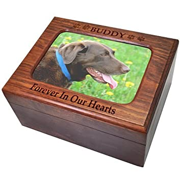 Custom Wooden Personalized Memory Chest Pet Urn