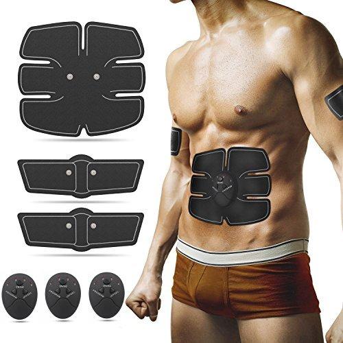 Abs Stimulator Abdominal Muscle Toner, Ultimate Abs Stimulator Ab Belt Abdominal Muscle Toning Belt Ab Stimulator for Men Women, for Abdomen/Arm/Leg/Waist