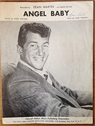 Sheet Music] Angel Baby  Recorded by Dean Martin on Capital