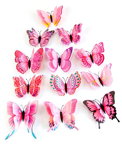 5pcs/12pcs Magnet or Pin Fridge Luminous Simulation Dream Dragonfly/Butterfly (Pink Dragonfly Dreams)