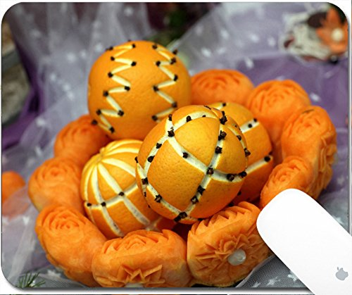 Luxlady Gaming Mousepad 9.25in X 7.25in IMAGE: 24646488 The oranges at a market on halloween
