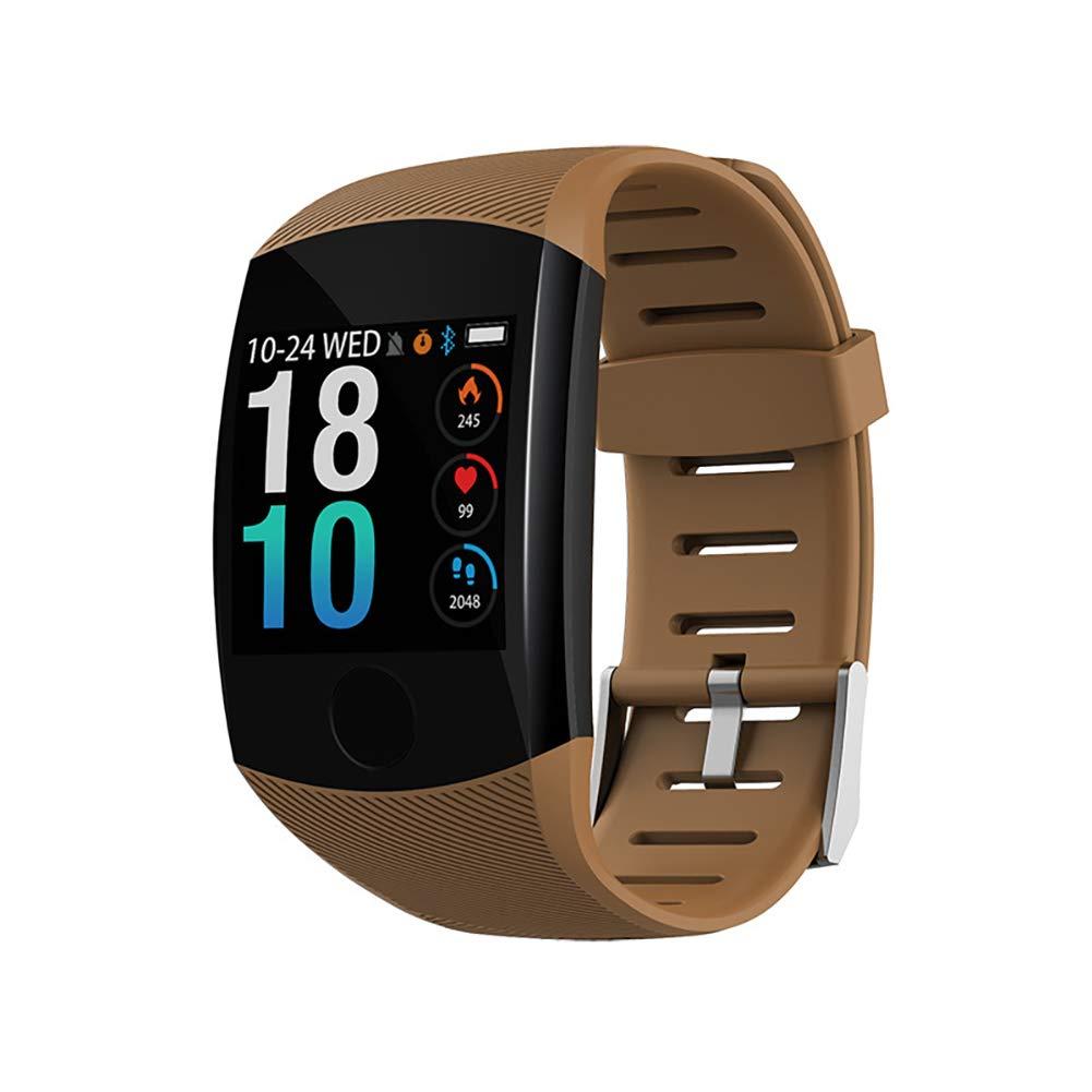 SPORS Health Monitoring Watch, Heart Rate Blood Pressure Real-time Monitoring Smart Bracelet, Multi-Function Waterproof Bracelet-Brown by SPORS