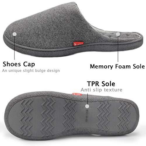 Grey Foam Terry On Starfarm House Anti Shoes Slip slip Comfort Indoor Dark Slipper Slippers Clog Lining French Women's Memory UwqBRH