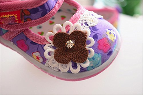 wuayi Mädchen Baby-Schuhe Violett