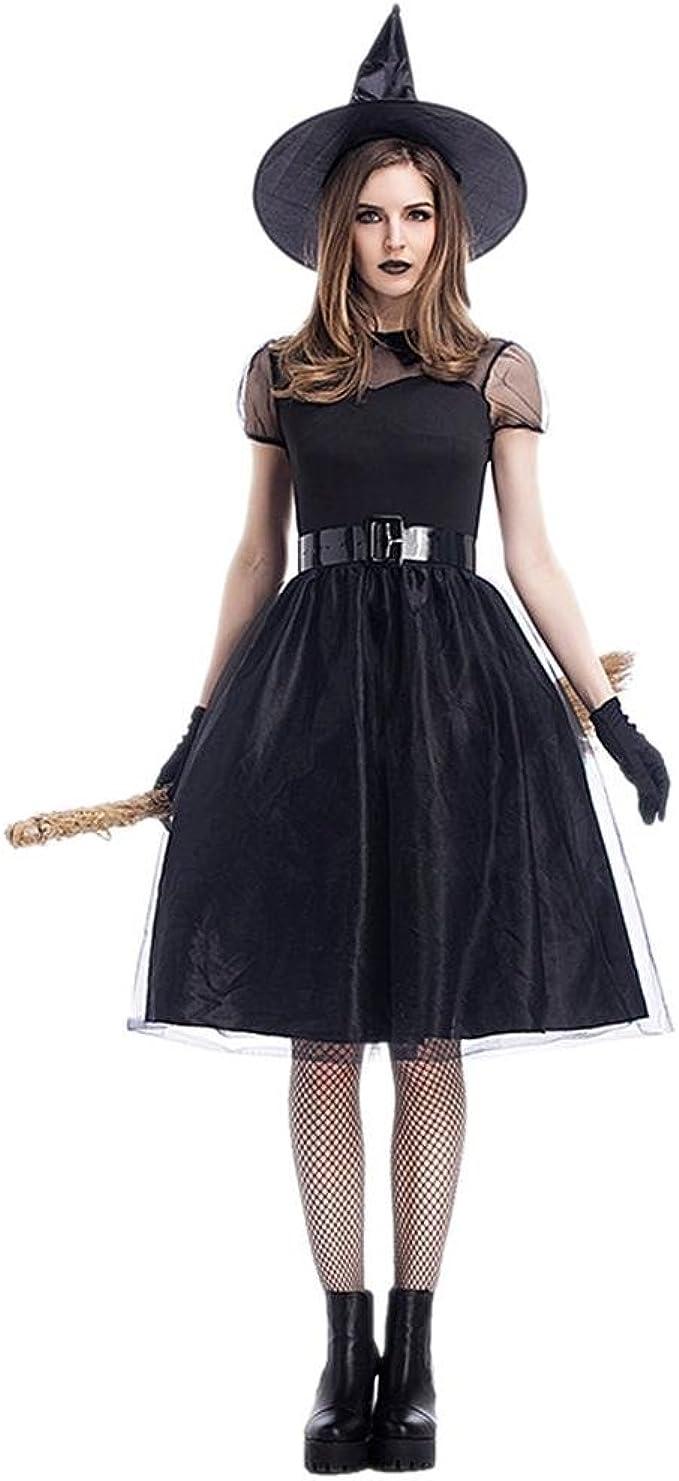 Leo565Tom Halloween Bruja Disfraz para Mujer, Víspera de Todos los ...