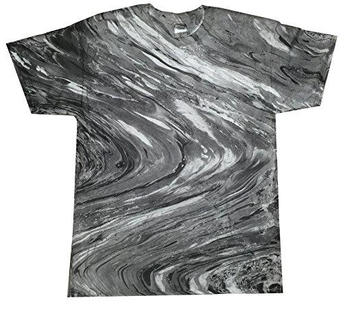 (Colortone Tie Dye T-Shirt LG Marble Black)