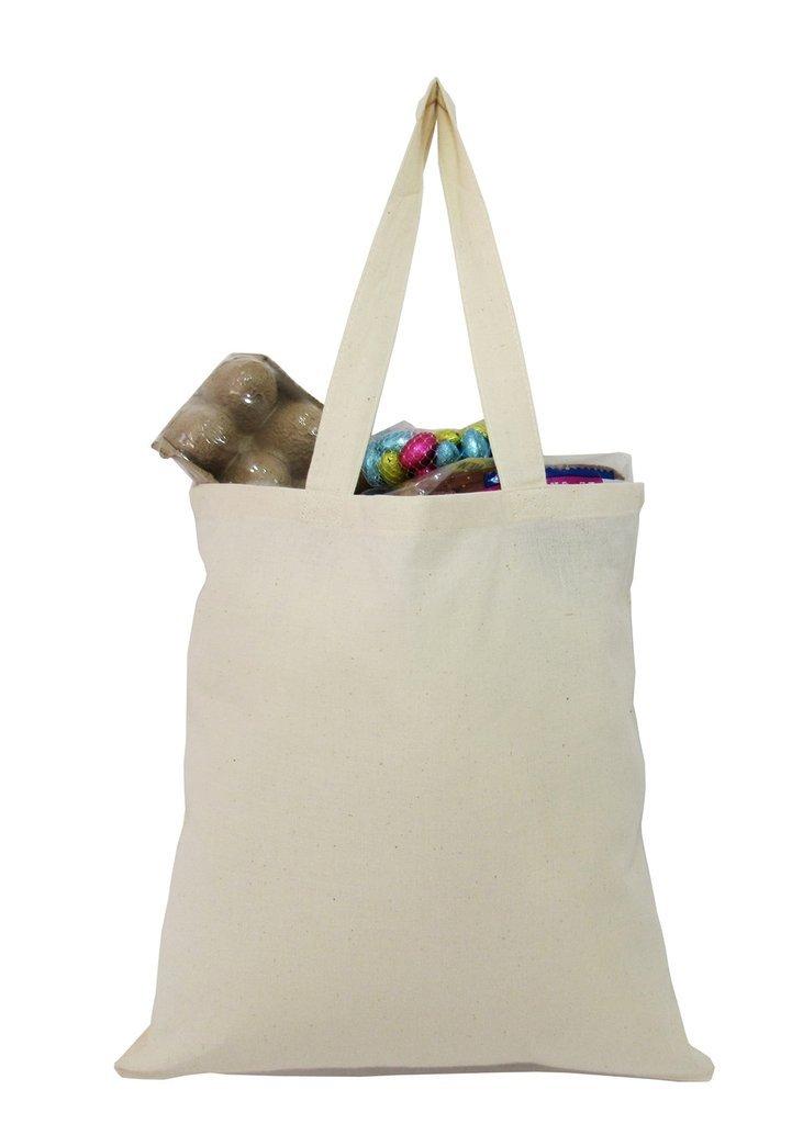 Washable 100 %コットンReusable Grocery Shoppingトートバッグ学校、アート、クラフト、DIY ベージュ B06WWDJ5GX