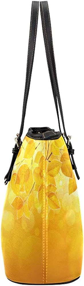 A Tote Bag For Women Natural Leaves Bright Sunlight Vector Leather Hand Totes Bag Causal Handbags Zipped Shoulder Organizer For Lady Girls Womens Large Travel Bag For Women