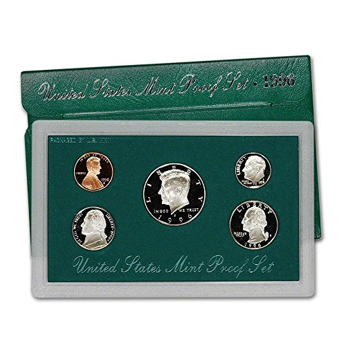 1996 S US Mint 5-Piece Proof Set Orig Box/COA (Presidential Dollar Bu Roll)