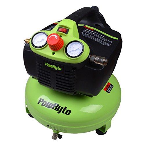 PowRyte 3 Gallon Oil-Free Pancake Portable Air Compressor -