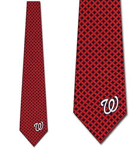 (Washington Nationals Ties Mens Diamante Necktie by Eagles Wings)