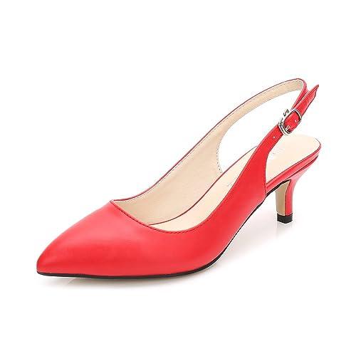 Ochenta Zapatos de Tacón Clásicos Espigones con Hebillas y Tiras EN La  Parte Trasera para Mujer  Amazon.es  Zapatos y complementos 0f03a659bb0f