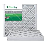 FilterBuy AFB Silver MERV 8 Pleated AC Furnace Air Filter, 20 x 20 x 1-Inches, Pack of 4
