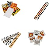 Safari Wild Animal Toy Party Favor Supplies 180 Piece Set for 12 Bundle